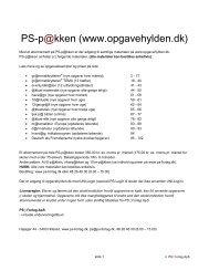 PS-p@kken (www.opgavehylden.dk) - PS | Forlag