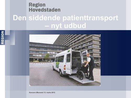 Den siddende patienttransport - nyt udbud - Danske Patienter