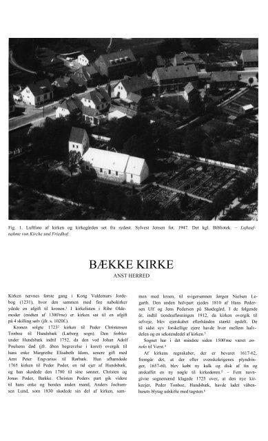 BÆKKE KIRKE - Danmarks Kirker - Nationalmuseet