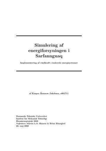 Simulering af energiforsyningen i Sarfannguaq - Clim-ATIC