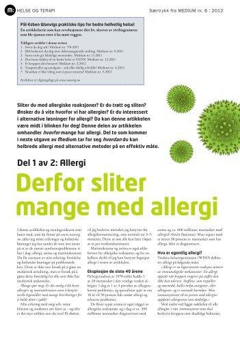 Derfor sliter mange med allergi - Pål-Esben Wanvig