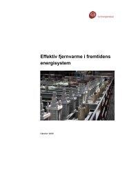 Effektiv fjernvarme i fremtidens energisystem - Ea Energianalyse
