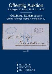 Offentlig Auktion - Frimärksauktioner i Göteborg AB