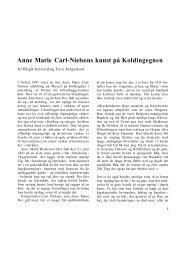 Anne Marie Carl-Nielsens kunst på Koldingegnen