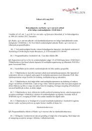 Udkast til bekendtgørelse om Radio- og tv-nævnets ... - Kulturstyrelsen