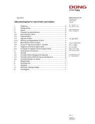 Udbudsbetingelser for køb af halm ved licitation - DONG Energy