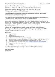 Dagsorden, indkaldelse og bestyrelsens beretning - Fløng ...