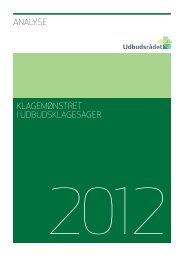 Analyse af klagemønstret i udbudsklagesager - Rådet for Offentlig ...