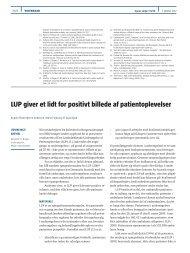 LUP giver et lidt for positivt billede af patientoplevelser - Enheden for ...