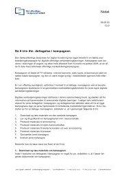 De 8 trin ifm. deltagelse i kampagnen