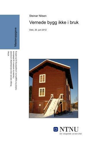 Vernede bygg ikke i bruk - Senter for eiendomsutvikling og ...