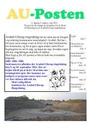 AU-Posten 4.Årgang 2.Udgave - Avnbøl-Ullerup Landsbylaug