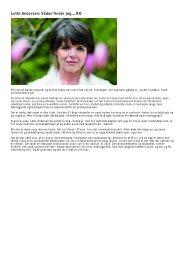 Lotte Andersen: Sådan finder jeg… RO