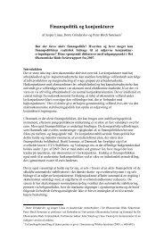 Finanspolitik og konjunkturer - De Økonomiske Råd