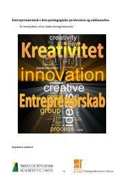 Entreprenørskab i den pædagogiske profession og uddannelse.
