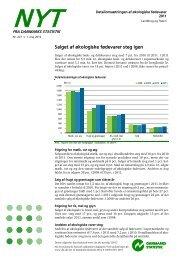 Se de nyeste tal i rapporten fra Danmarks Statistik - Kaffeinfo