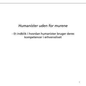 Humanister udenfor murene - Københavns Universitet