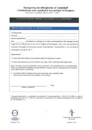 Skema til ansøgning om refusion af vandafgift