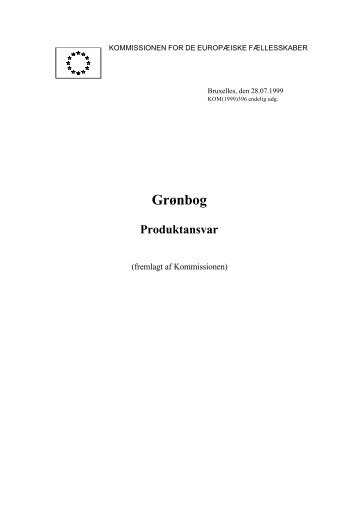 Grønbog – Produktansvar - Europa