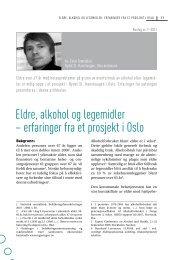 erfaringer fra et prosjekt i Oslo - Borgestadklinikken