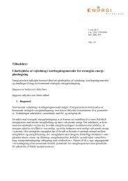 Tilbudsbrev Udarbejdelse af vejledning i ... - Energistyrelsen