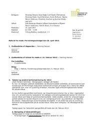 Referat fra møde i forretningsudvalget d. 25. april ... - Viborg Kommune