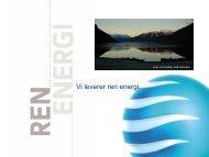 Bedre miljø ved endret vannhusholdning - Energi Norge