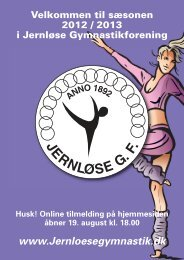 Program for 2012/2013 - Jernløse Gymnastikforening