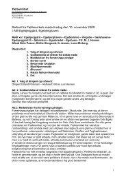 Referat fra Fællesvirke møde d. 10. nov. 2009 - Egebjerggård