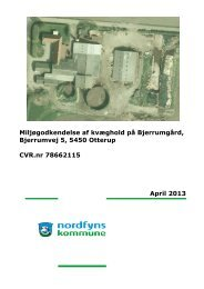 Miljøgodkendelse efter Husdyrgodkendelseslovens §11 - Nordfyns ...