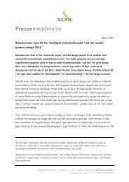Læs hele pressemeddelelsen her (pdf) - Scan.dk