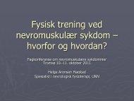 Fysisk trening ved nevromuskulær sykdom – hvorfor og hvordan?