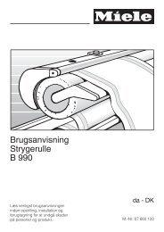 Brugsanvisning Strygerulle B 990 - Miele Danmark
