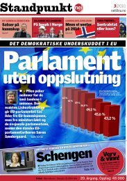 Standpunkt 3-2010 - Nei til EU