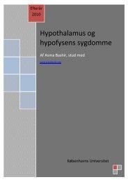 Hypothalamus og hypofysens sygdomme - Asma Bashir