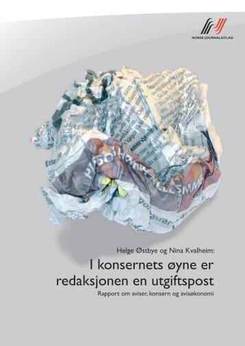 I konsernets øyne er redaksjonen en utgiftspost - Norsk Journalistlag