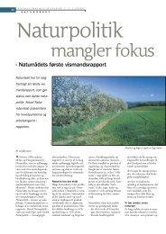 Naturpolitik mangler fokus - Viden (JP)