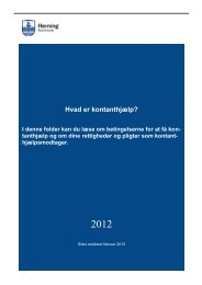 Folder - betingelser konthjælp feb 2012 - Herning Kommune