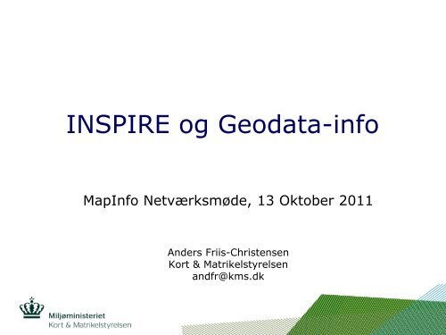 Geodata-Info.dk og Inspire - Den danske PB Software Blog