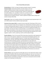 Tools of Human Molecular Genetics Gel-elektroferase ... - Asma Bashir