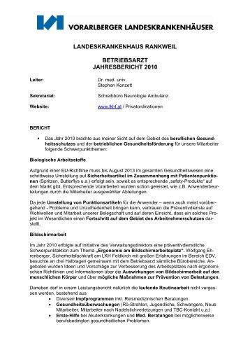 Presseaussendung mit der Bitte um ... - Landeskrankenhaus Rankweil