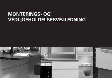 MONTERINGS- OG VEDLIGEHOLDELSESVEJLEDNING