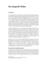 En etnografi i felten - Jette Rostock