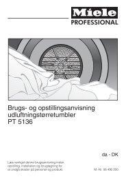 Brugs- og opstillingsanvisning udluftningstørretumbler PT 5136