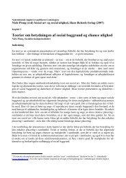 Teorier om betydningen af social baggrund og chance ulighed