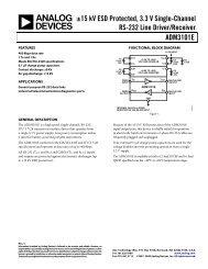 ADM3101E ±15 kV ESD Protected, 3.3 V Single ... - Analog Devices