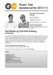 Musik i Tide skolekoncerter 2012-13 Paul Banks og Charlotte Halberg
