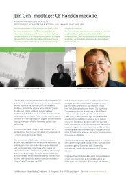 Jan Gehl modtager CF Hansen medalje - Gehl Architects