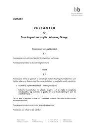 vedtægt for Foreningen Landsbyliv i Alken og Omegn