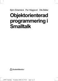 Objektorienterad programmering i Smalltalk - Free